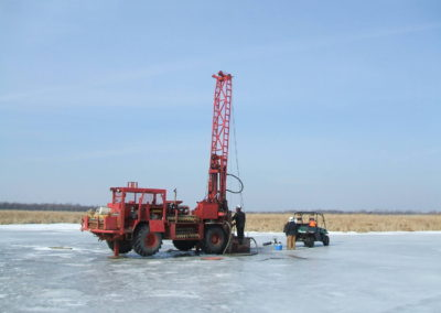 Drilling on ice